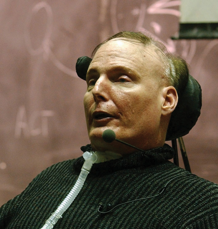 Photo of Christopher Reeve in a wheelchair
