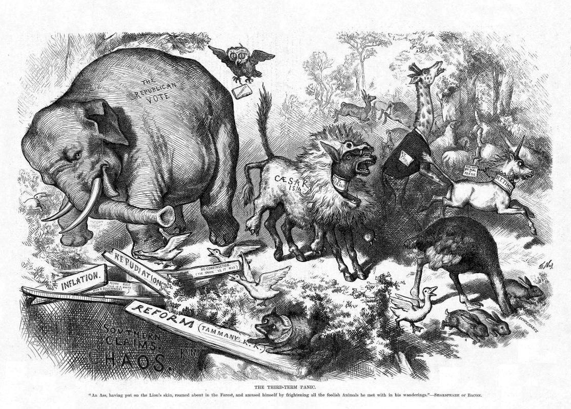 Thomas Nast Donkey Elephant Cartoons