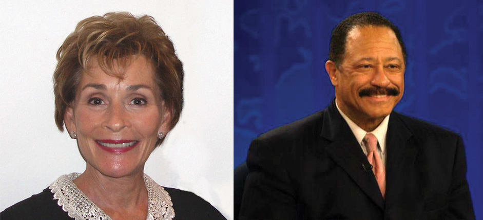 Left, photo of Judge Judy; right, photo of Judge Joe Brown