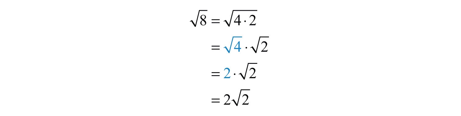 how to find square root of 8