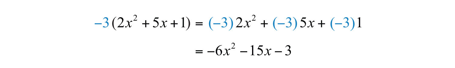 how to use the distributive property to factor each polynomial