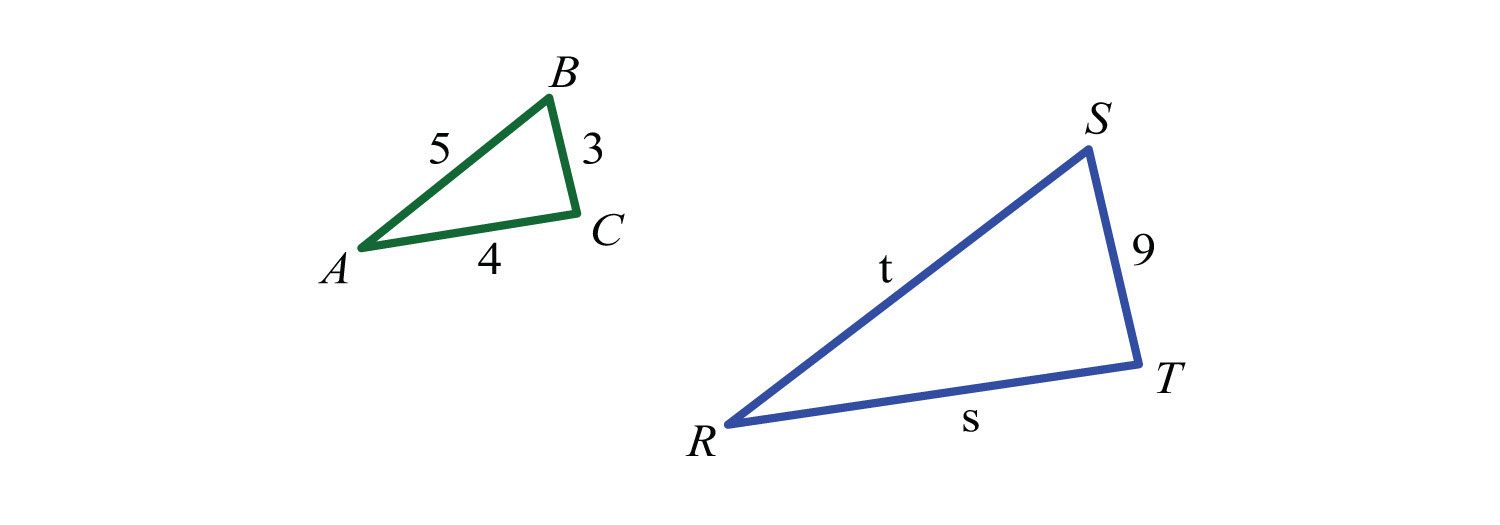 how to find sides of similar triangles