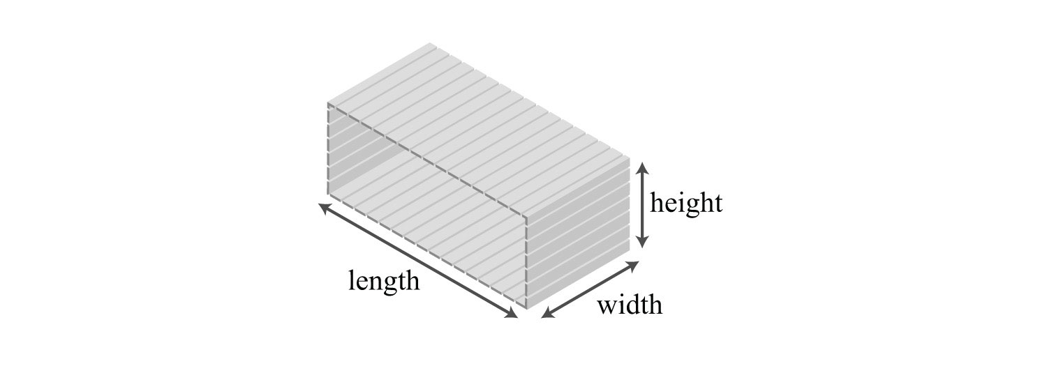 how to find the diagonal length of a rectangular box