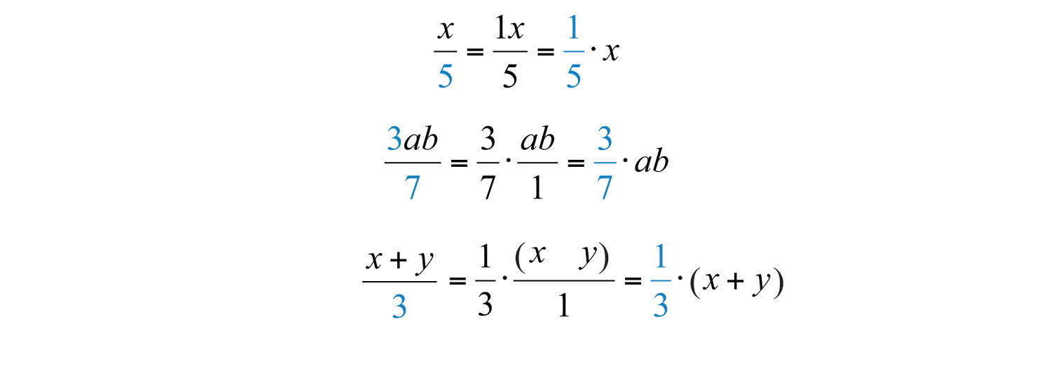 Linear equations and inequalities division in algebra is often indicated using the fraction bar rather than with the symbol and sometimes it is useful to rewrite expressions involving biocorpaavc Choice Image