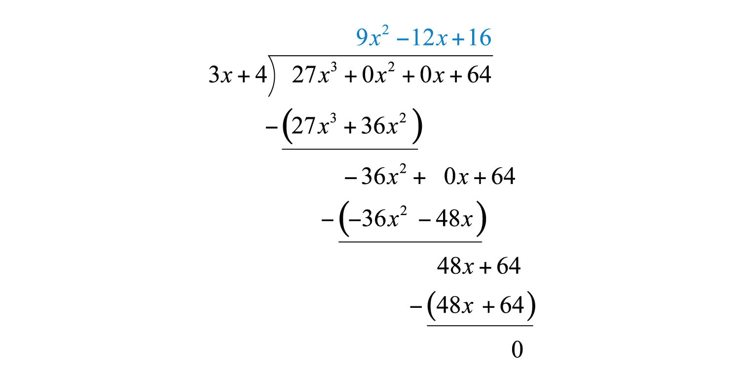 how to find the quotient and remainder using long division