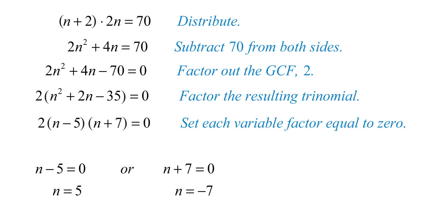 Applications Involving Quadratic Equations