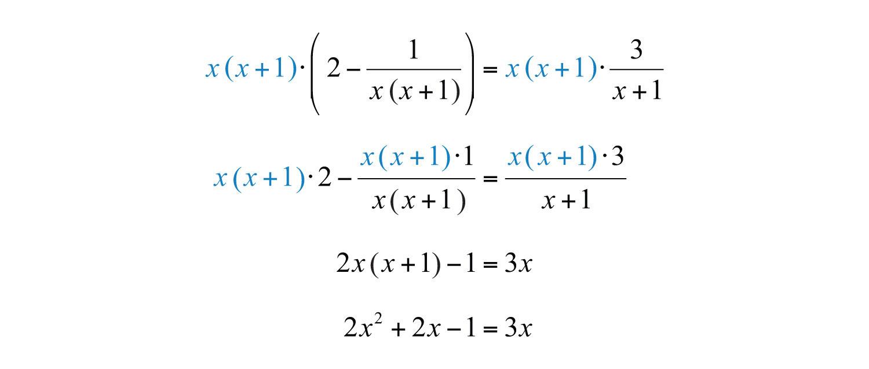 how to solve a quadratic equation for x