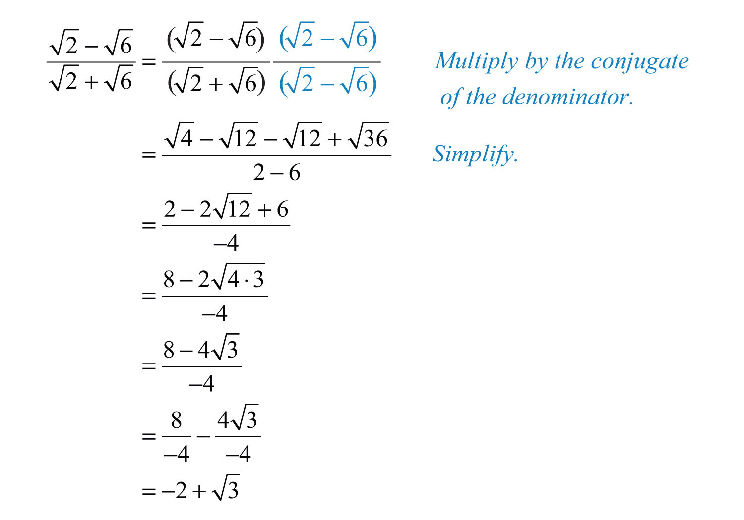 worksheet Rationalizing The Denominator Worksheet multiplying and dividing radical expressions solution multiply by 1 in the form