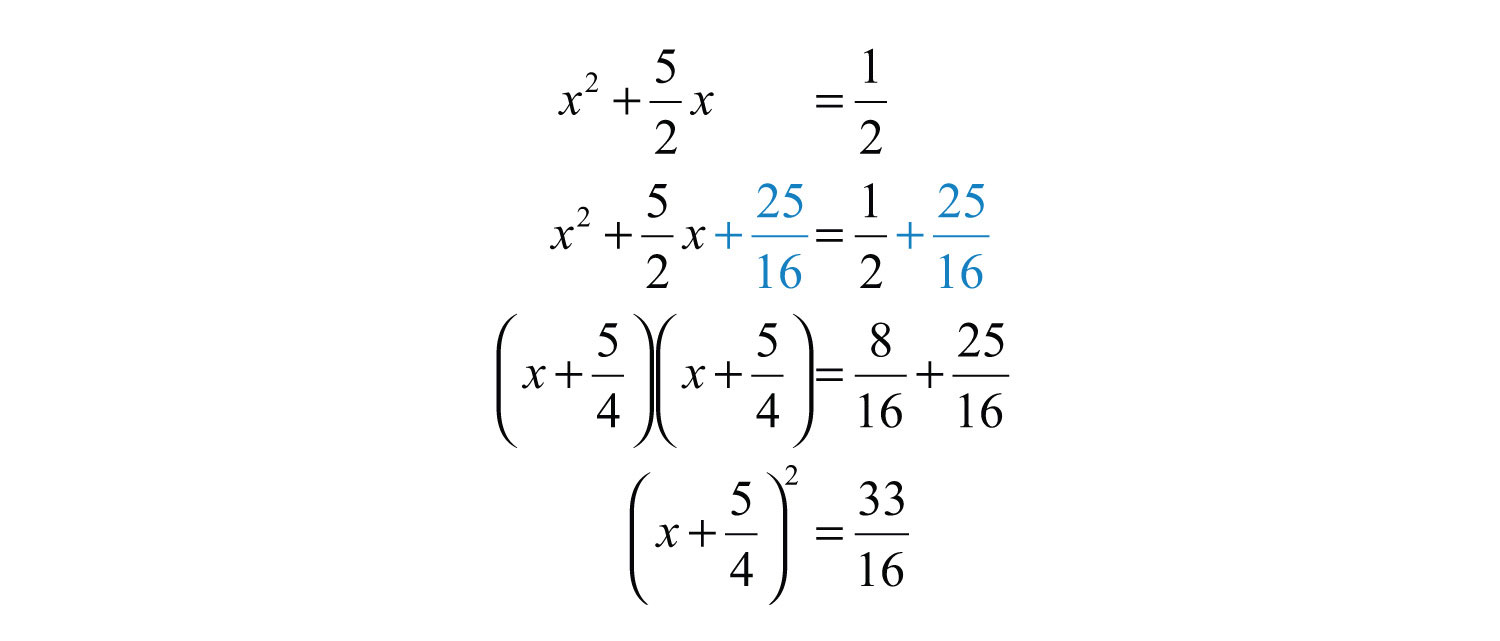 16 To Both Sides Of The Equationplete The Square College Algebra