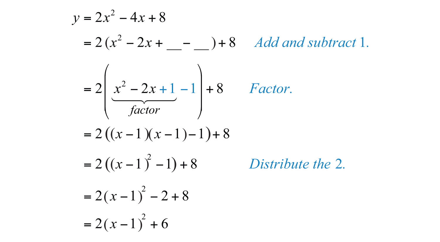 In This Form, We Can Easily Determine The Vertex