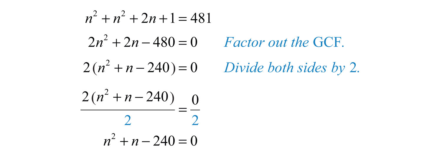Guidelines for solving quadratic equations and applications rewrite the quadratic equation in standard form falaconquin