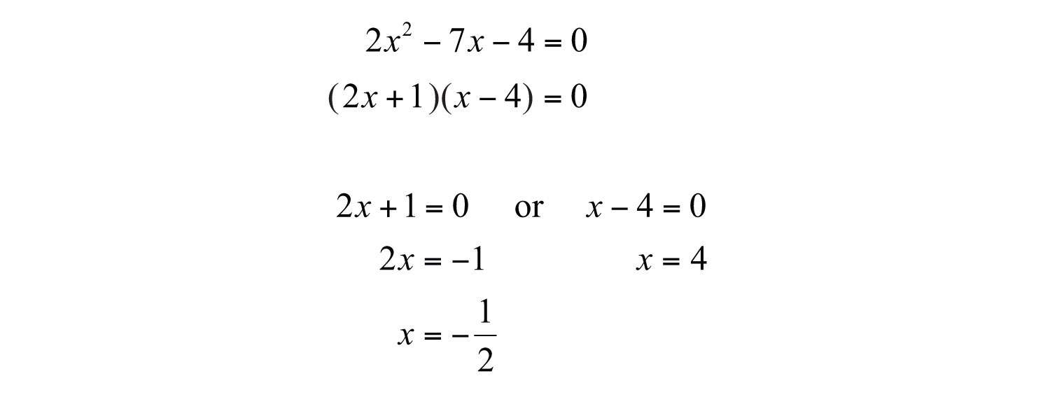 Guidelines for solving quadratic equations and applications given the special condition where the discriminant is 0 we obtain only one solution a double root falaconquin