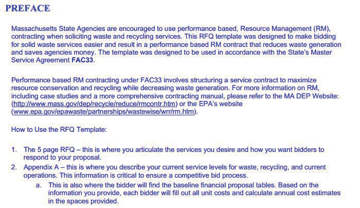 rfq format template - project procurement and closure