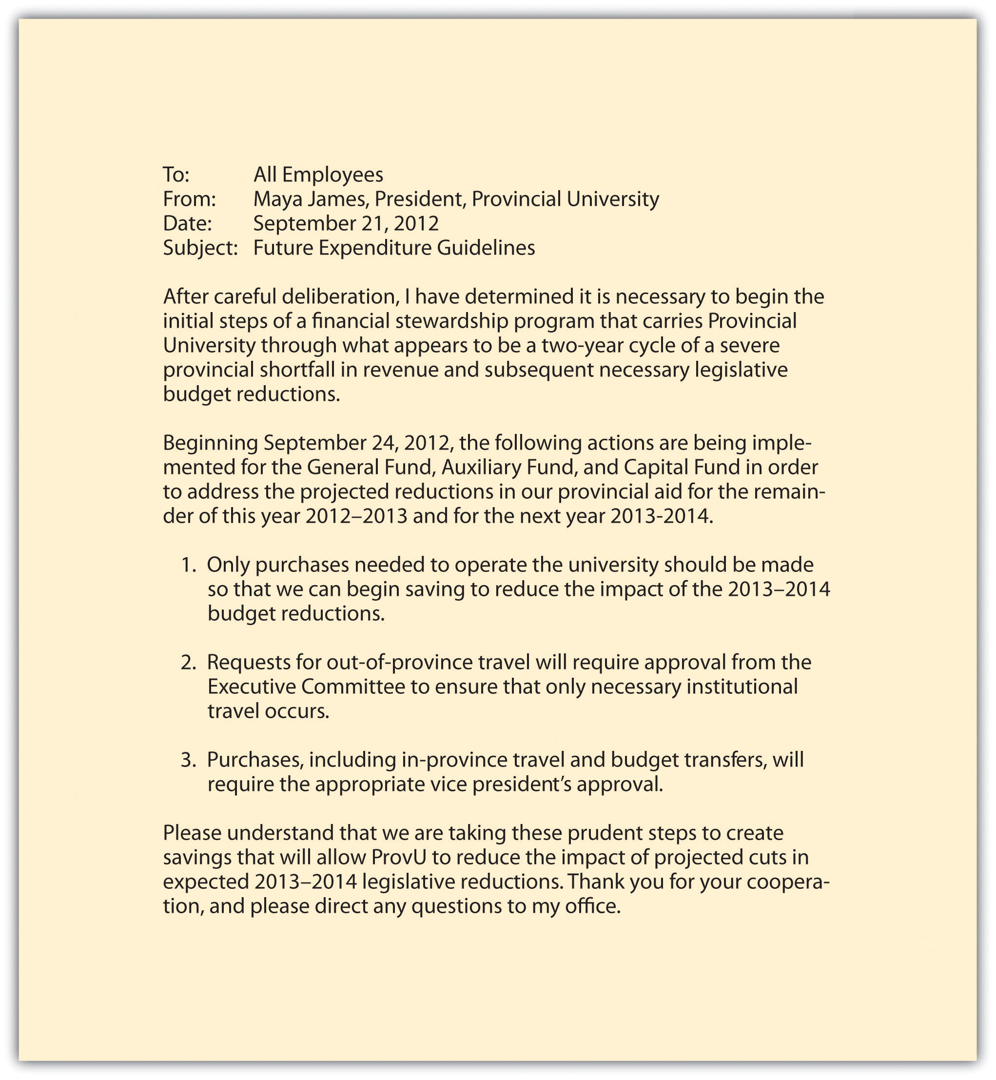 Memo Outlines Education Dept Plans To >> Memos Purpose And Format Technical Writing