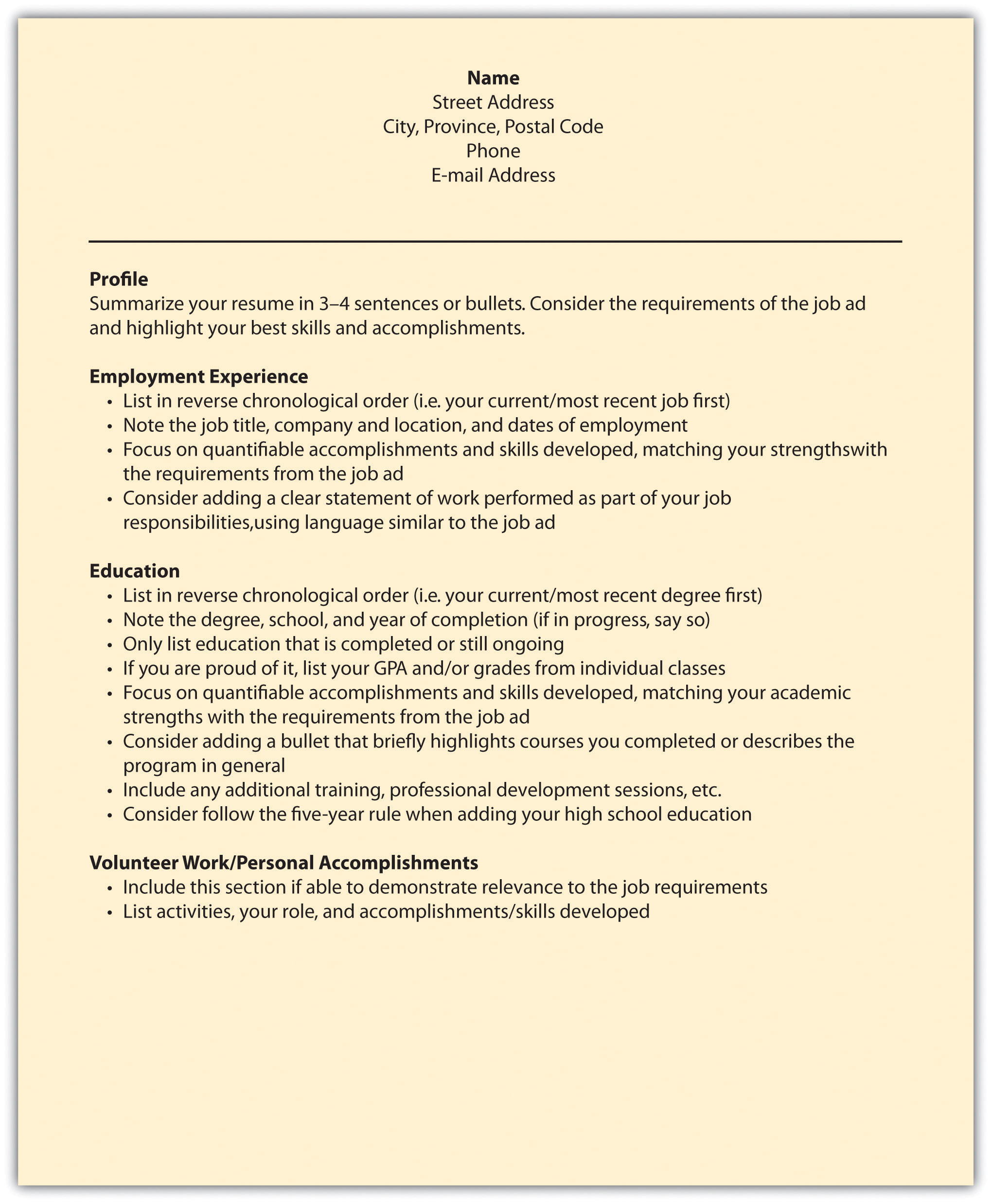 reverse chronological order resume order of resume resume order resume cv cover letter and example template resume order resume reverse
