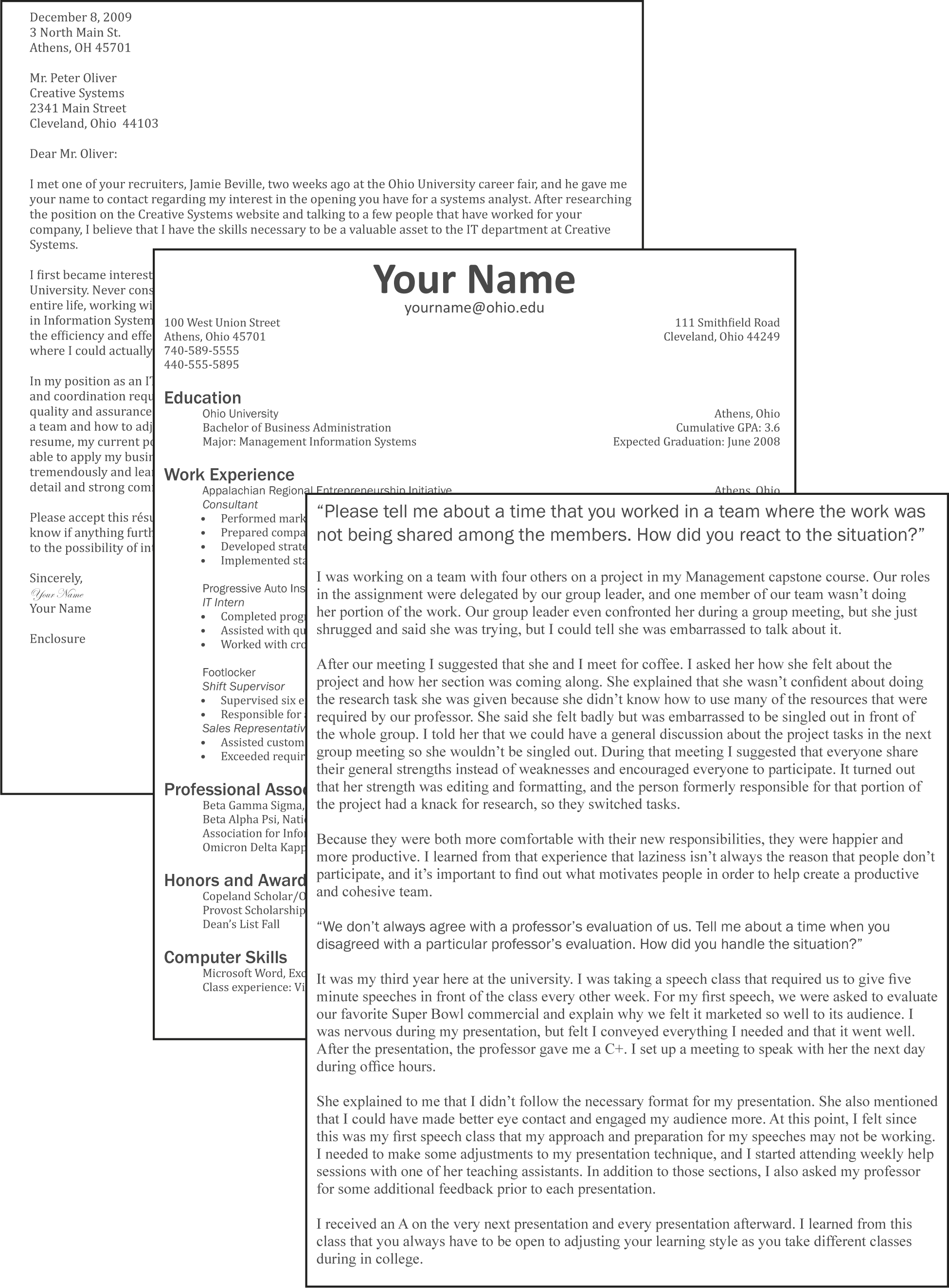 L3 Assignment: Resume, Cover Letter, And Interview  Does A Resume Need A Cover Letter