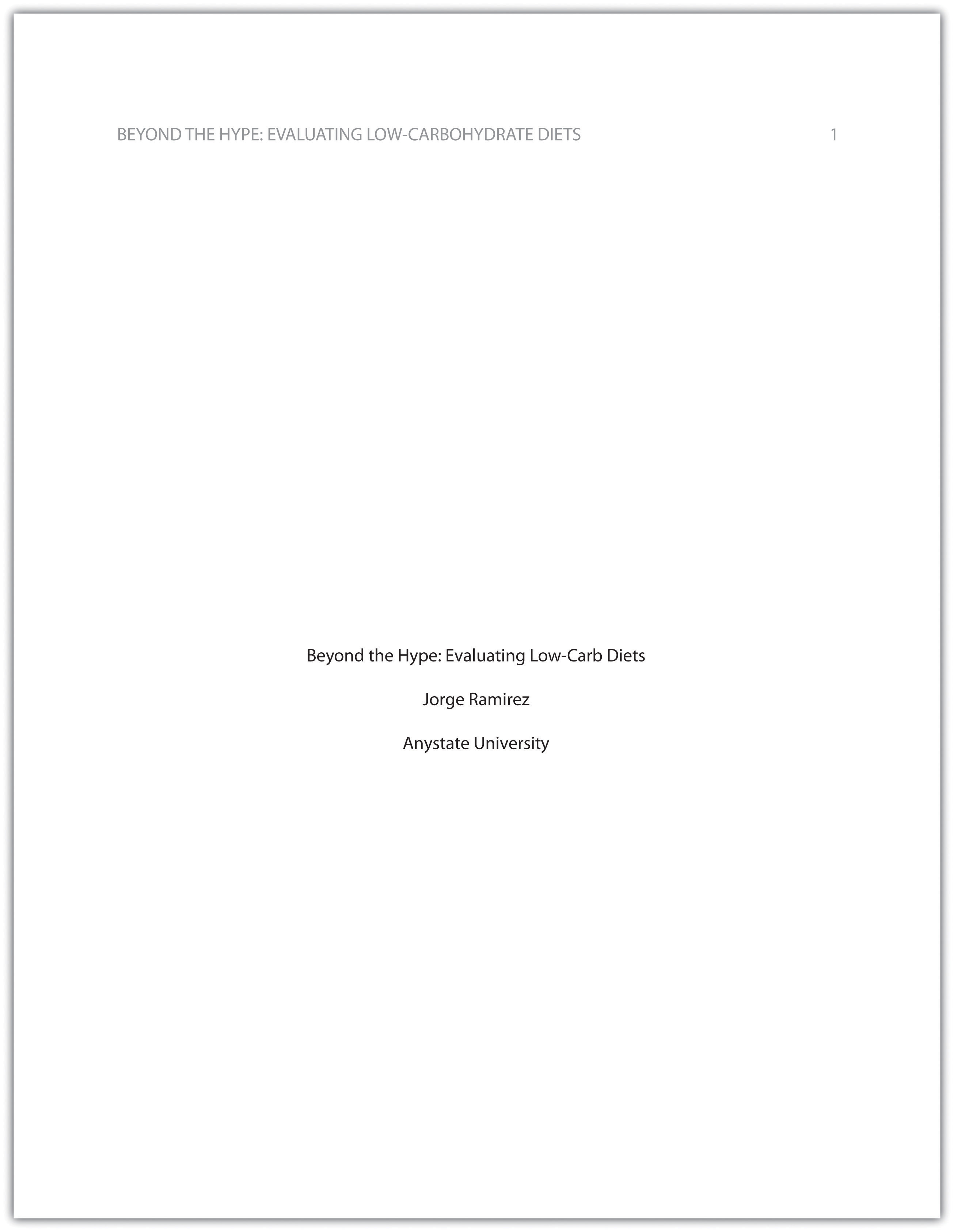 How to Write A Top Level View for a Research-Paper