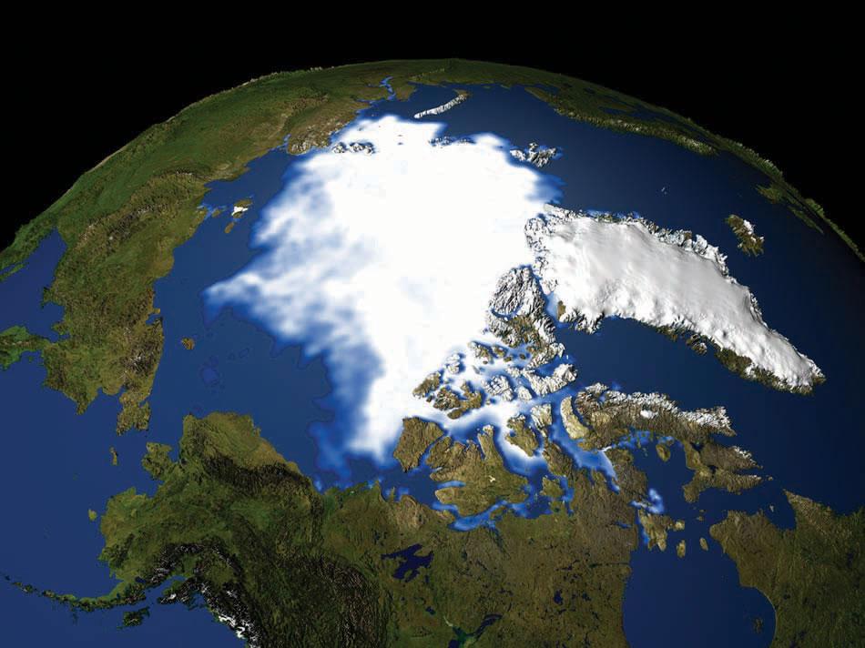 Polar Ice Cap Map Figure 2.8 Polar Ice Cap