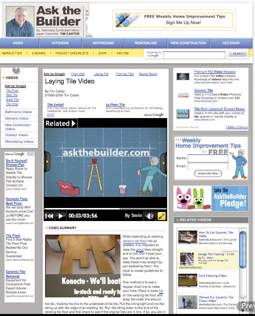 Ad networks distribution beyond search for Ask the builder