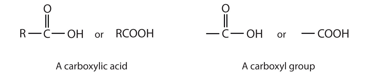 Functional Groups Of The Carboxylic Acids And Their Derivatives