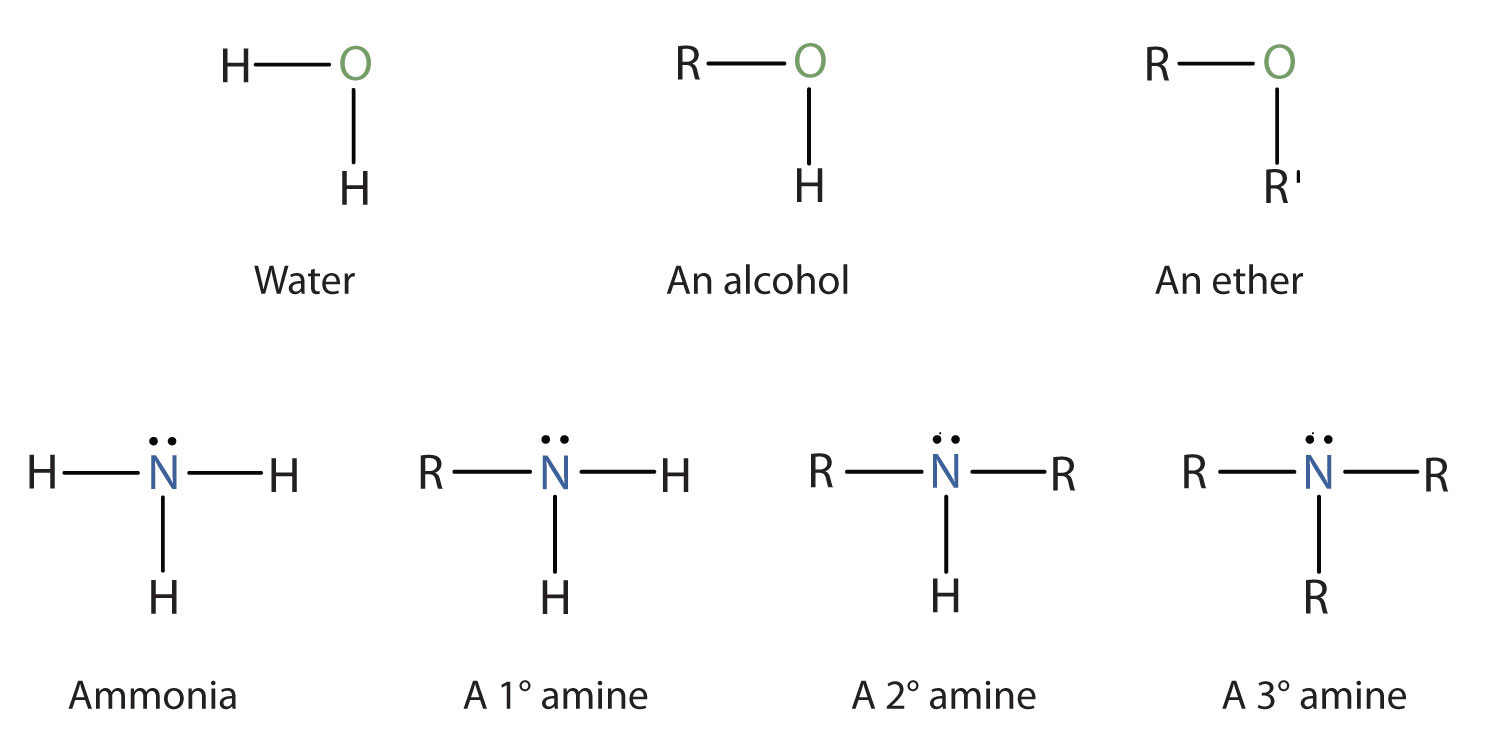 Amines Compared to Wat...