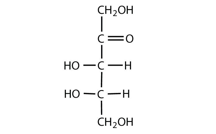D 2 Ketotetrose L-ribulose  D-glyceraldehyde