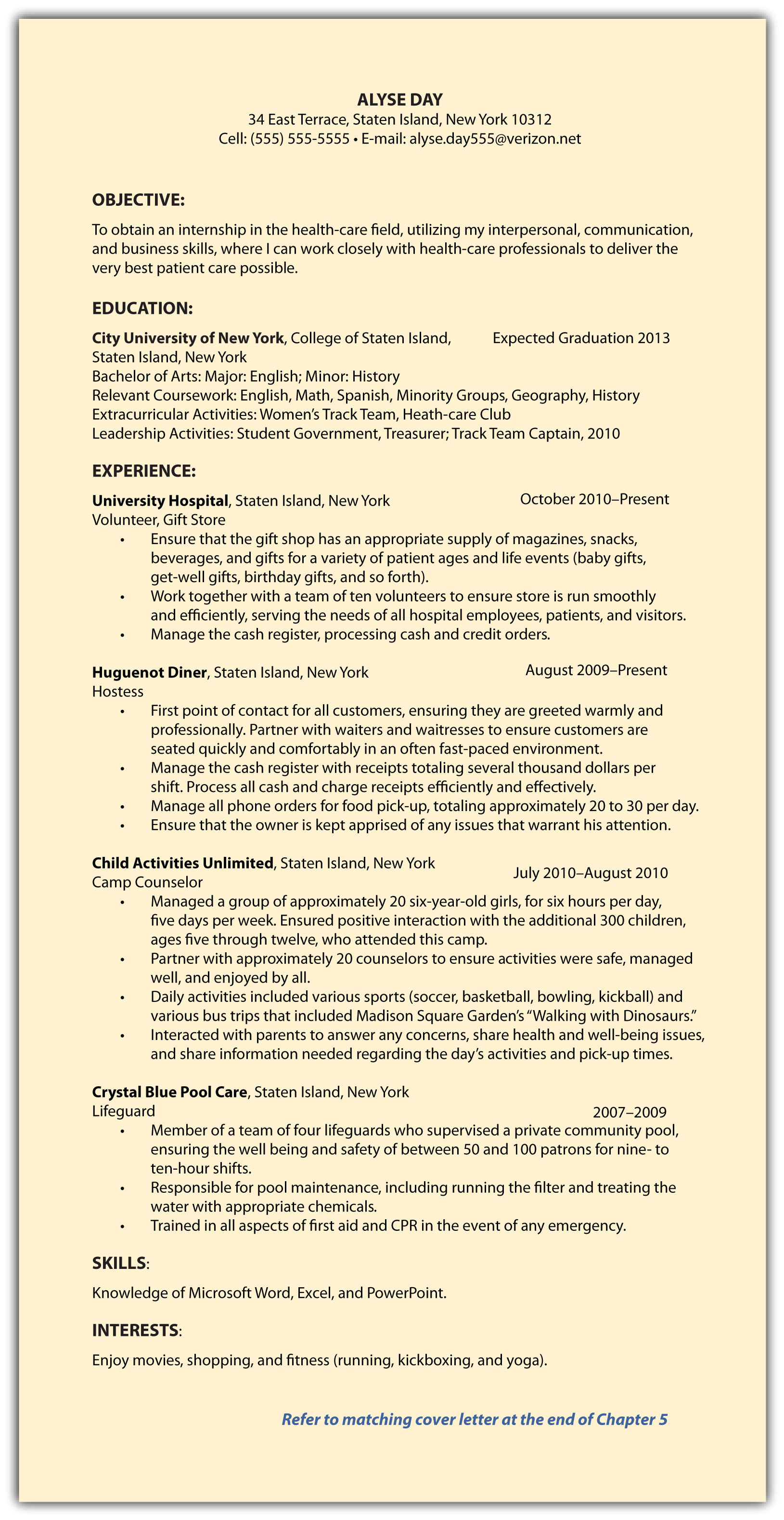 Cv Cover Letter A Concise And Focused Cover Letter That Can Be  Lifeguard Cover Letter