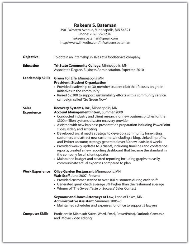 Sales Associate Skills And Duties Resume