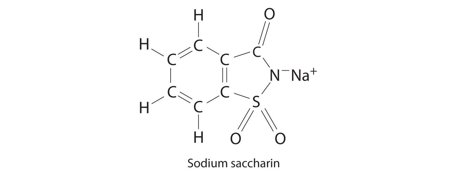 Calcium Chloride Molecular Structure Sodium saccharin  which is