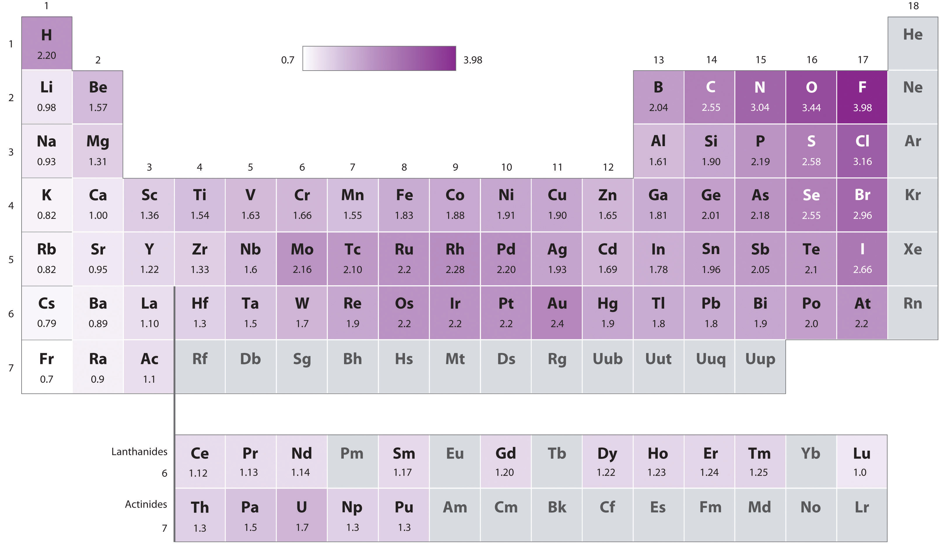 The Periodic Table and Periodic Trends Electronegativity Periodic Table