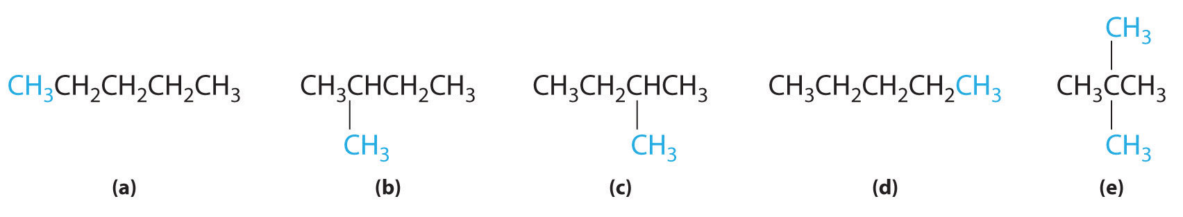 Of these structures   a  and  N Pentane Lewis Structure