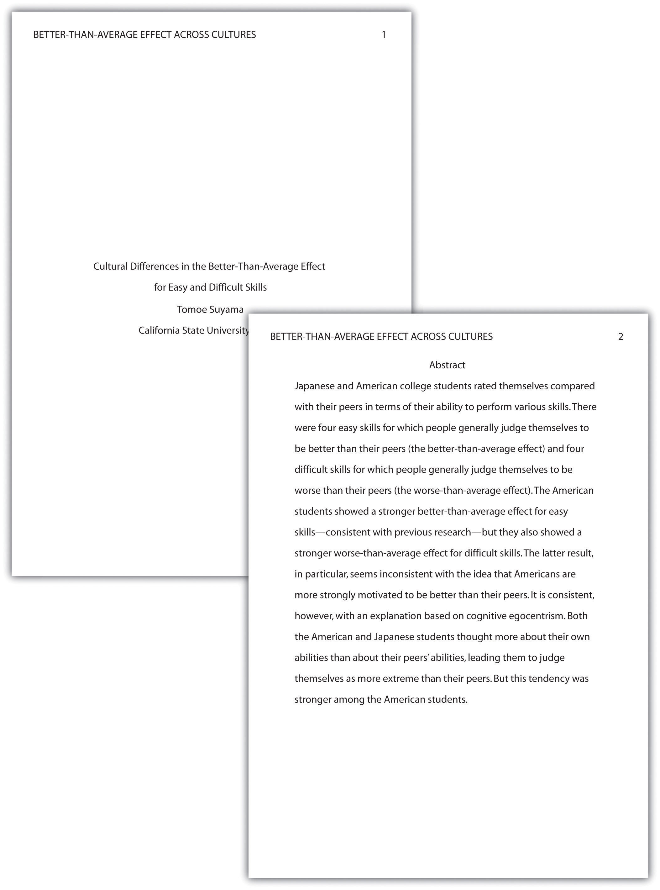 Research paper layout apa