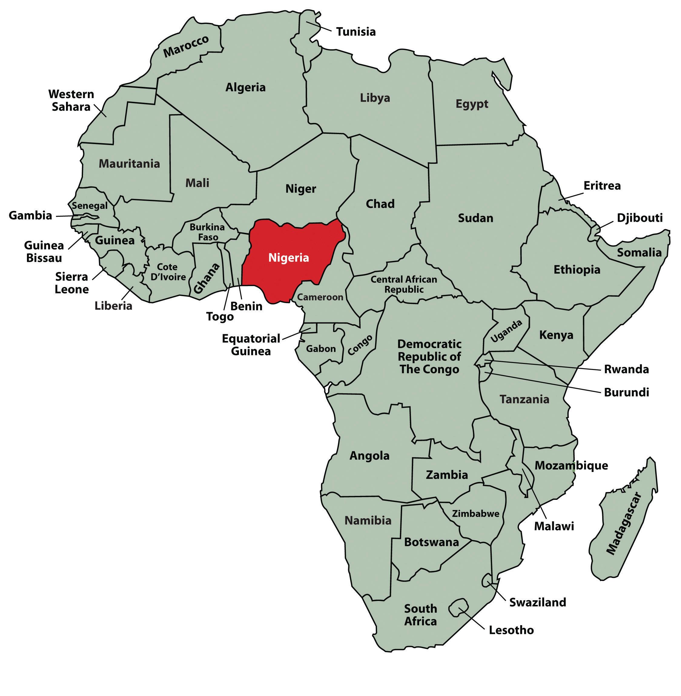 Nigeria Map Africa