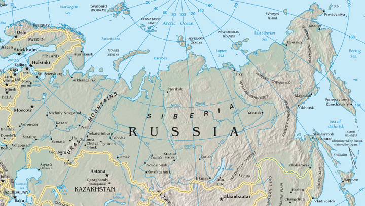 Source Map courtesy of the West Siberian Plain Map