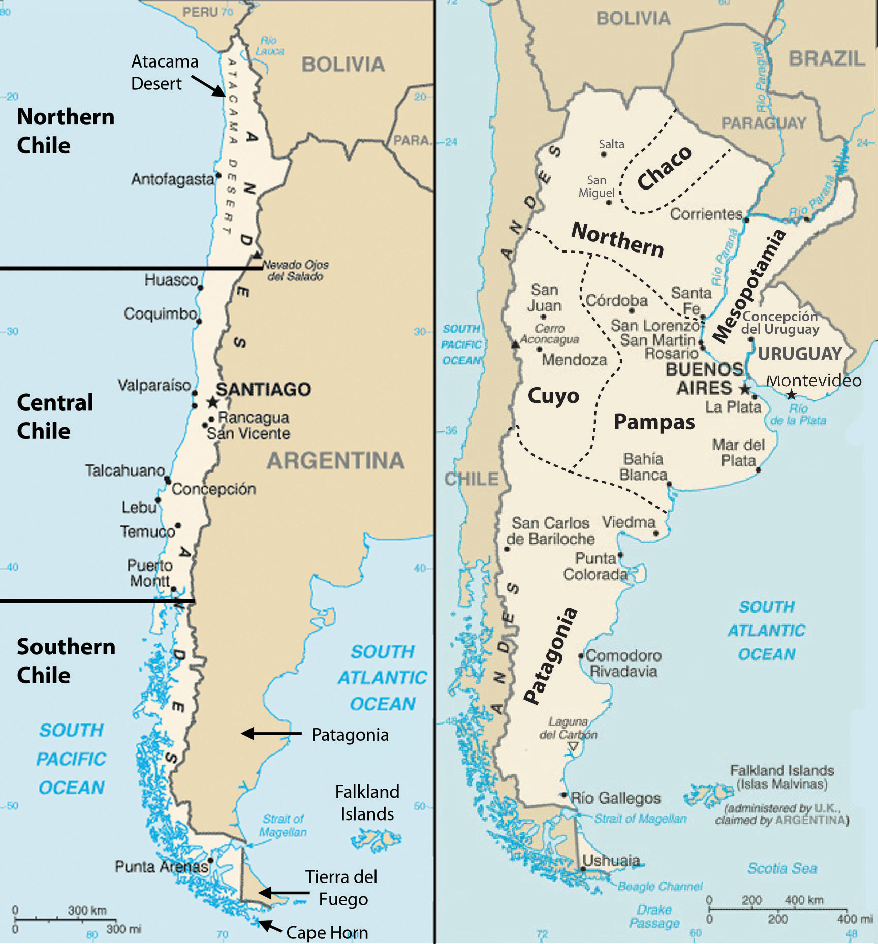 geography and climate of chile Chile exhibits a variety of climates, as its geographical position is more longitudinal in nature due to this fact, chile's climate has simply been divided into sections: northern, central, and southern.