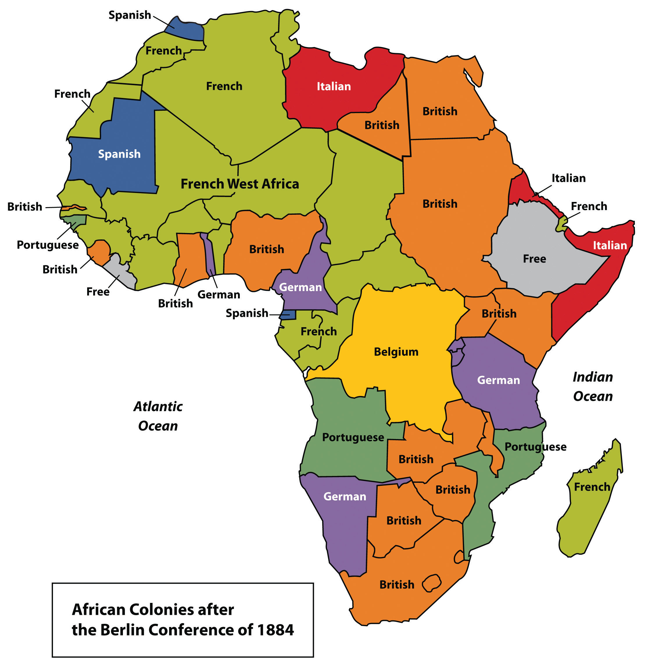 Imperial Map Of Africa | Map North East