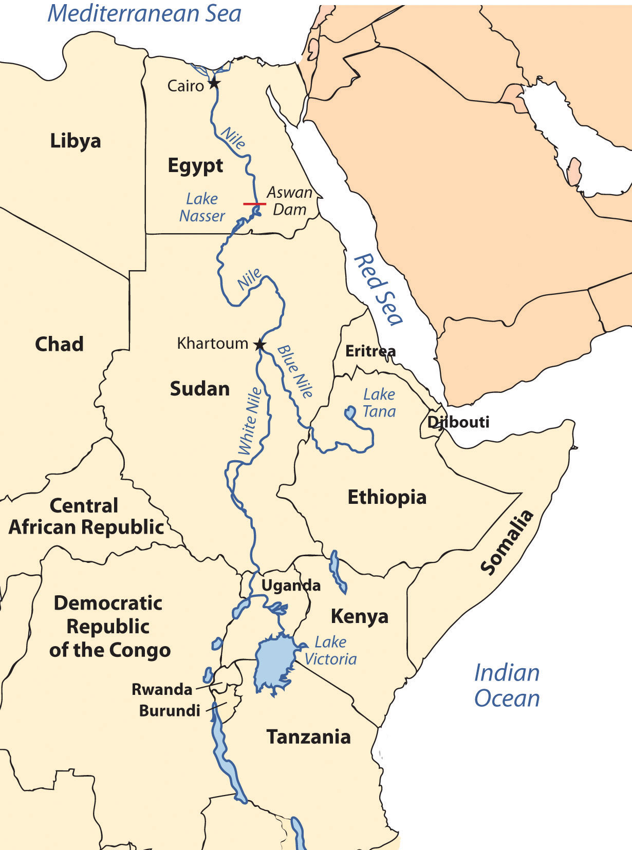 Blue Nile River In Africa Map.Nile River Map Of Africa Jackenjuul
