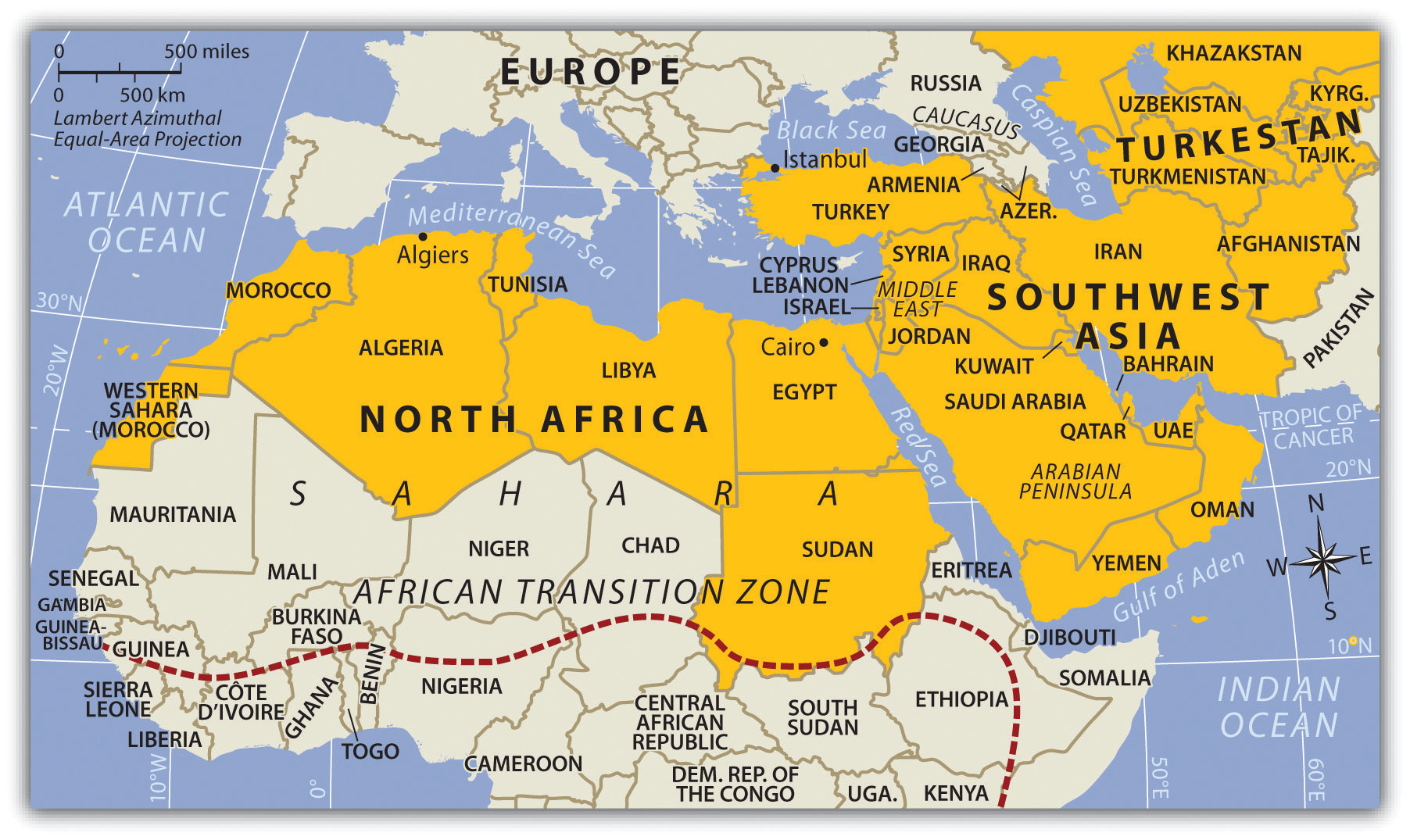 Map Of Africa And Southwest Asia | Jackenjuul