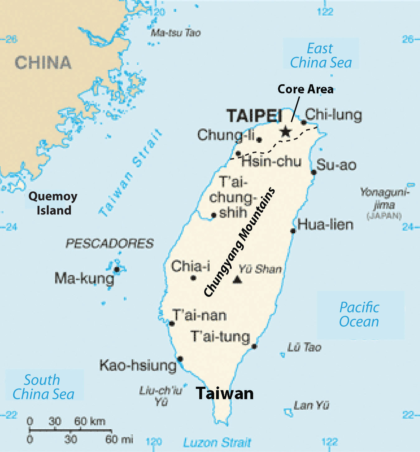 a geography of taiwan Taiwan's human geography is a response to the rise of communism in mainland china since the end of world war ii, taiwan developed rapidly.