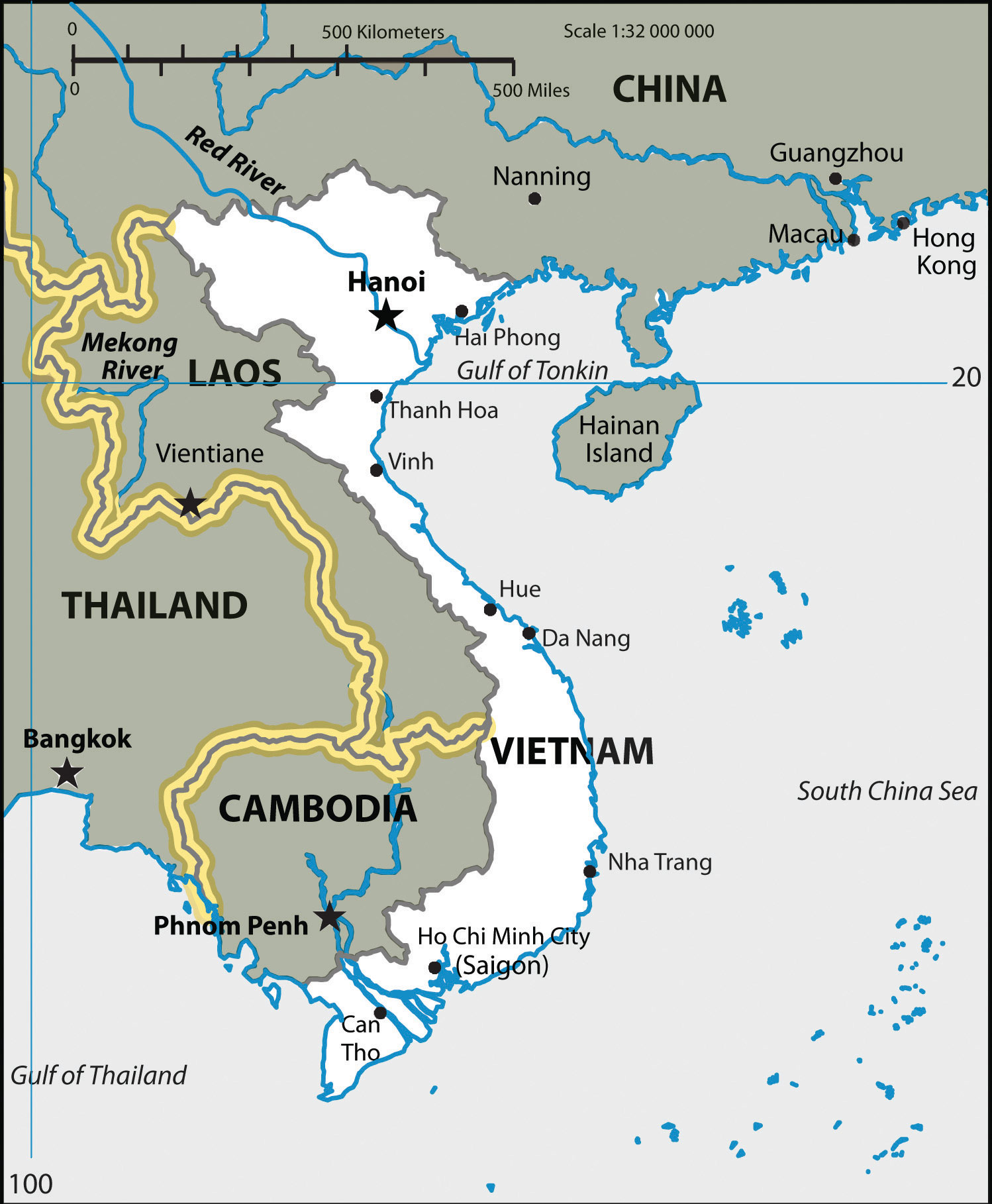 Southeast Asia - Us imperialism world map caribbean area latin america asia
