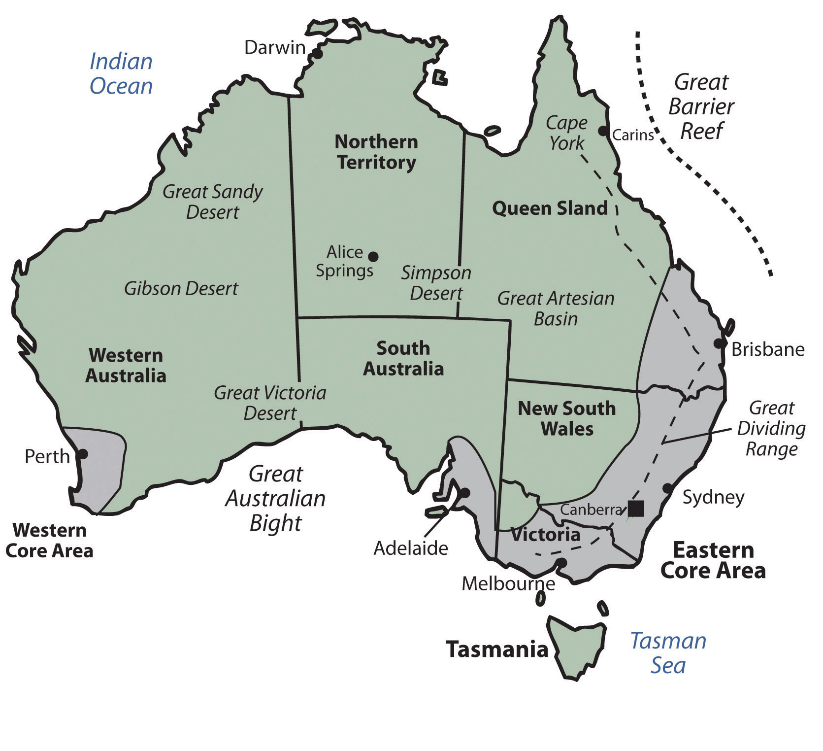 Eastern Hemisphere Map With Names Australia