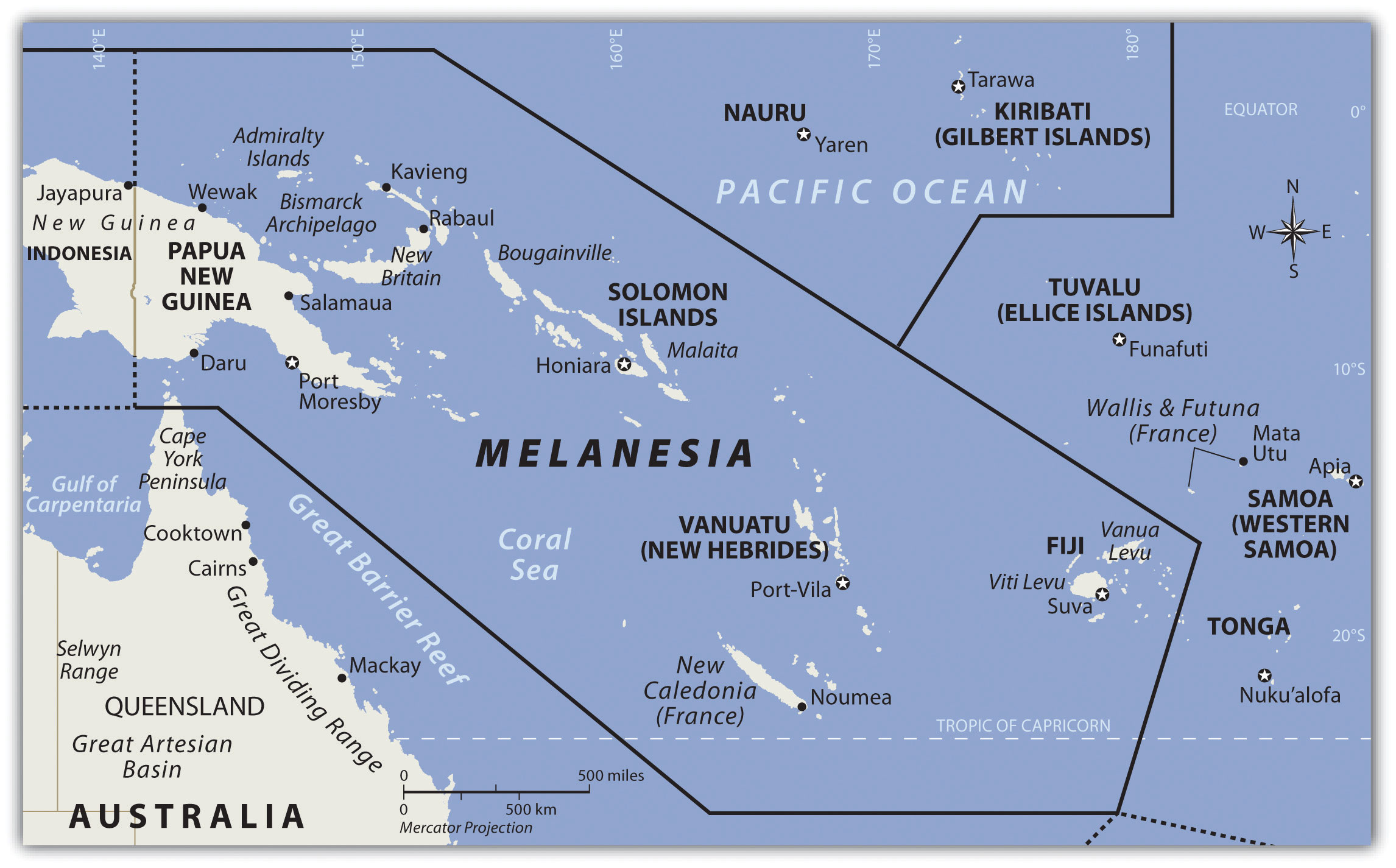 The Pacific And Antarctica - West pacific islands map 1998