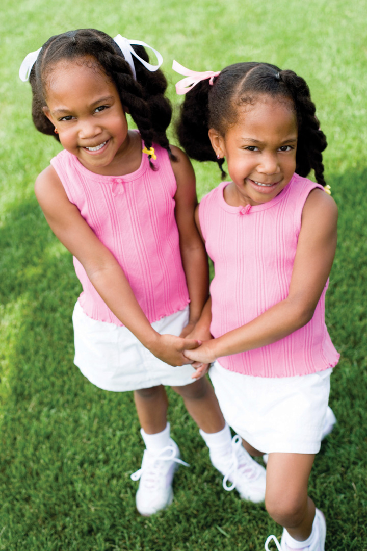African American Identical Twins African american identical