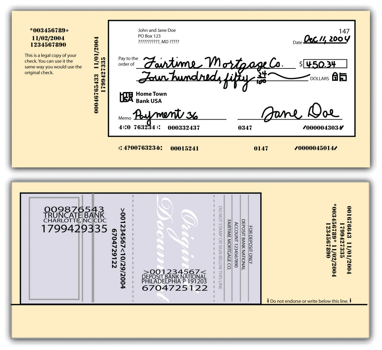 Figure 171 Substitute Check Front And Back