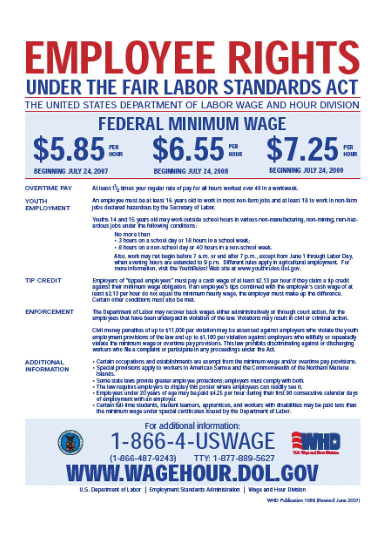 raising the wage floor figure 11 1 us department of labor poster