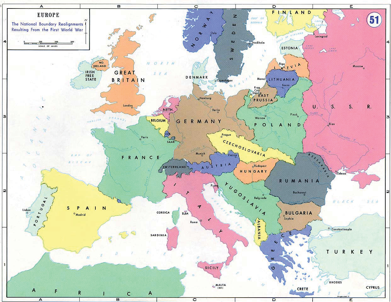 Image result for post world war 1 map