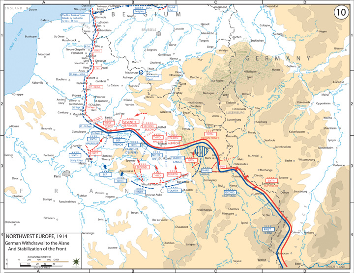 The Late Progressive Era and World War, 1912–1920 The Battle Of Marne Wwi Map on battle of verdun map wwi, downloadable maps of battle wwi, allied powers map wwi, battle of tannenberg map wwi,