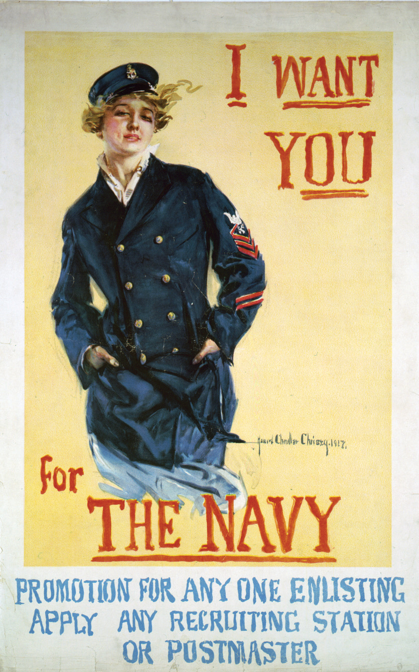 US Navy recruiting poster for women. In addition to those employed ...