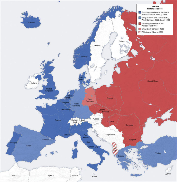 europes cold war the 1945 A short summary of history sparknotes's the cold war (1945–1963)  the  marshall plan was so successful that factories in western europe were  exceeding.
