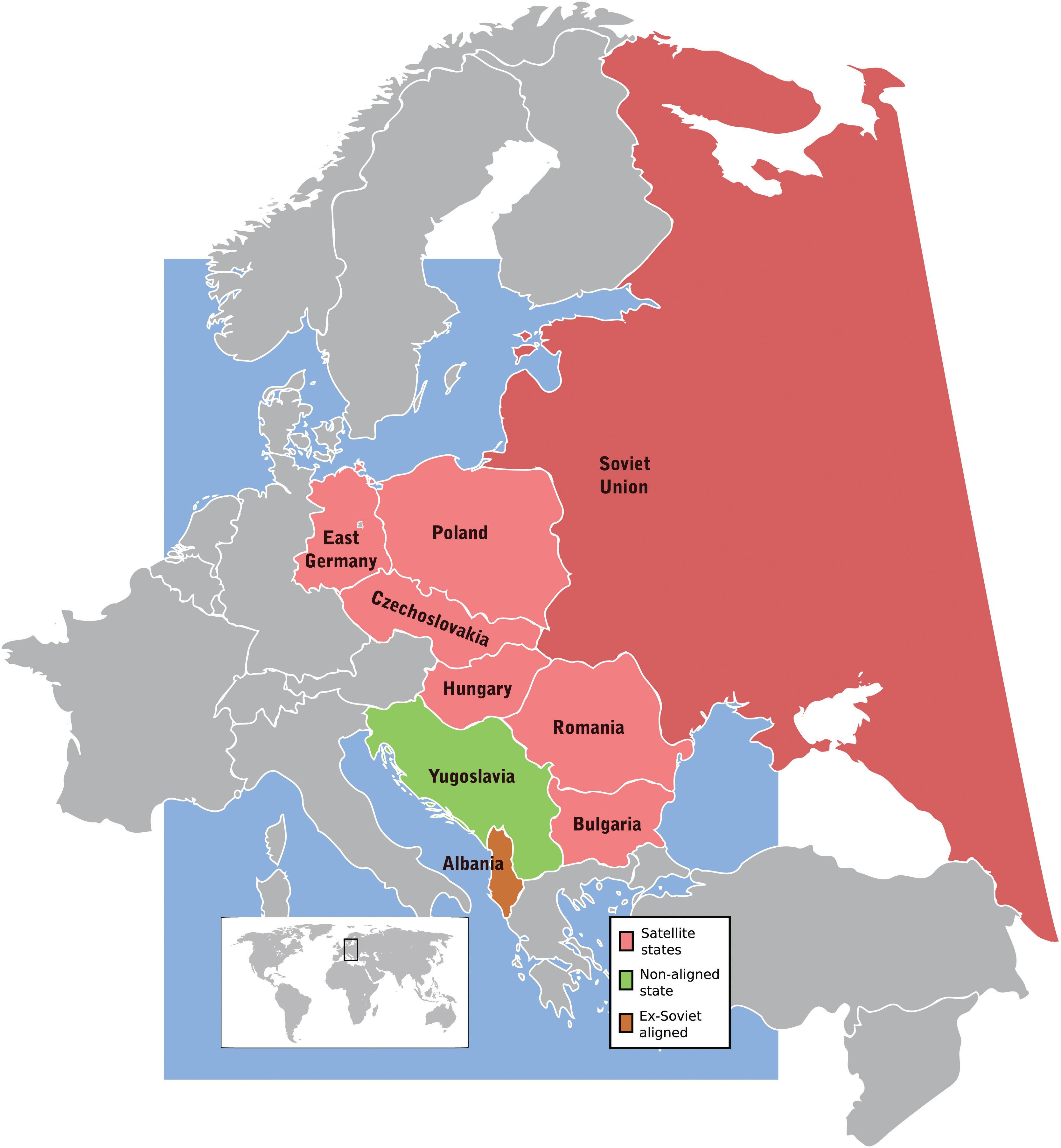 Europe Map 1980